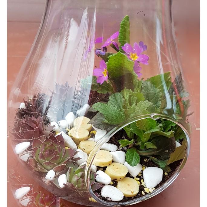Стъклена круша с декорация (по избор)