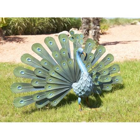 Декоративна фигура цветен Паун