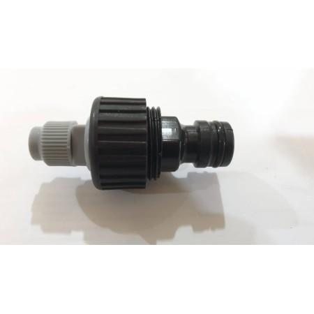 Бърза връзка за чешма към маркуч ф8 с ФИЛТЪР. Подходяща за система за мъглуване (охлаждане с водна мъгла) с месингови дюзи