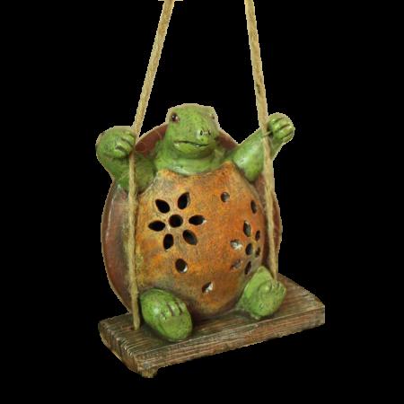 Соларна декоративна лампа костенурка