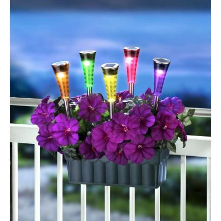 Соларна лампа за градина SS-6012, променящи се цветове