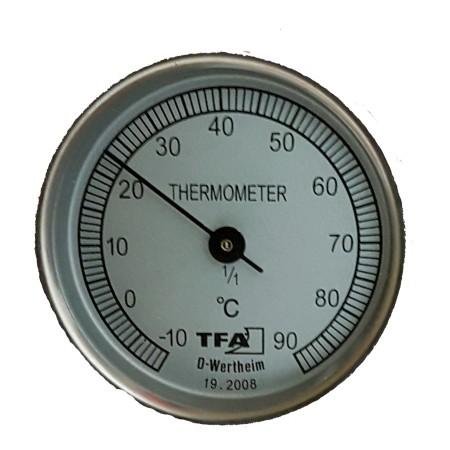 Термометър за почва или компост (метален)