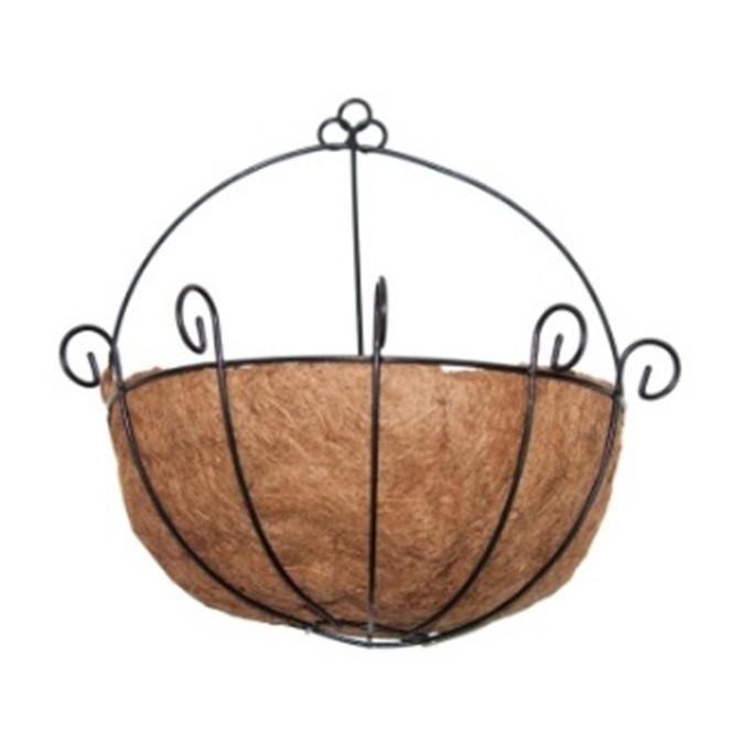Стенна кашпа (Ковано желязо с кокос)
