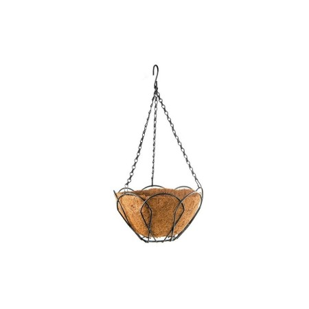 Висяща кашпа (Ковано желязо с кокос)