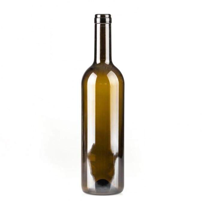 Стъклена бутилка за вино тъмно зелена 750мл