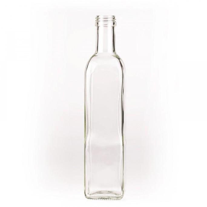 Стъклена бутилка за ракия МАТИРАНА + винтова капачка 500мл